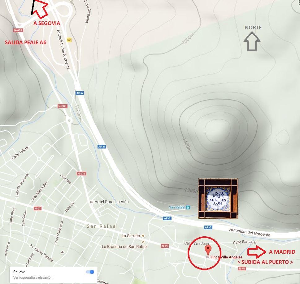Plano San Rafael Segovia